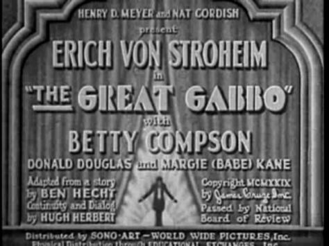 The Great Gabbo - Erich von Stroheim / James Cruze, 1928